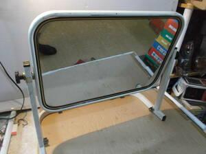 カガミ 置き 鏡 ジャンク 角度調整 スチール L型 インテリア 雑貨 ミラー 50×45cm位 送料着払い