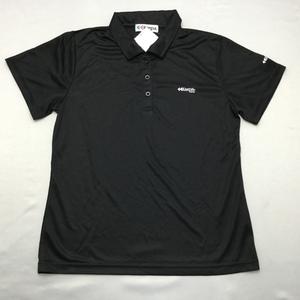Kaepaレディース半袖ポロシャツ(吸水速乾加工 UVカット)  L  ブラック★91105