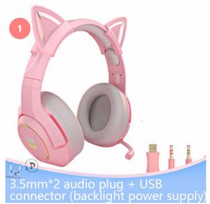 S-246 【カラー2種類】ネコ耳 RGBゲームヘッドフォン ヘッドセット ステレオ マイク LEDライト 有線 USB ノイズ削減 PS4