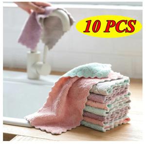 S-288 【10枚セット♪】超吸収性 マイクロファイバー クリーニングタオル 食器洗い 食器拭き 家庭用