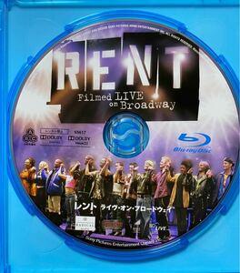 ミュージカル レント Blu-ray ブロードウェイ ブルーレイディスク RENT