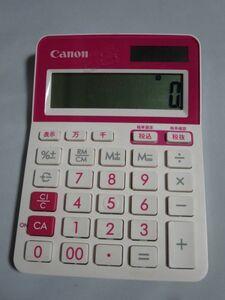 キャノン Canon 電卓 LS-103TUC-RD 10桁 抗菌仕様 便利な億万千単位表示 税計算可