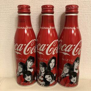 画像で要確認! 同じデザイン2本の2種 3本セット 新品 未開封 NiziU デザイン コカ・コーラ 250ml スリムボトル缶 送料520円~