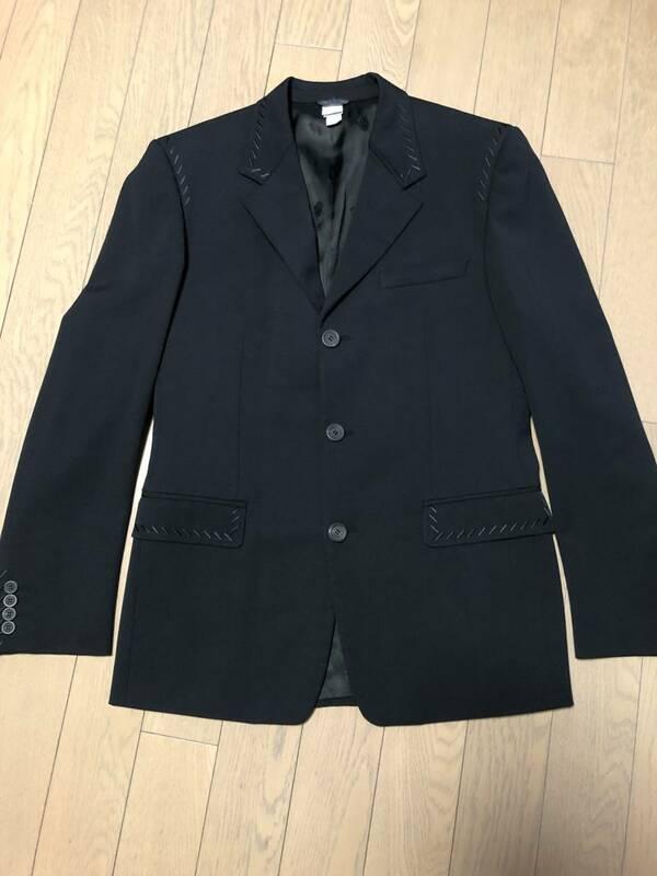 ジャンニヴェルサーチ GIANNIVERSACE サイズ46 S 黒地 メンズ ジャケット イタリー製