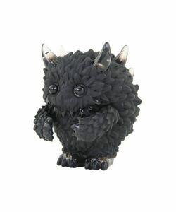 instinctoy Mini Monster Fluffy Black & Black Clear