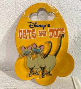 ディズニー ピンバッジ ピンバッチ わんわん物語 シャム猫 サイとアム