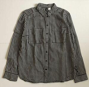 H&M ギンガムチェックフランネルシャツ トップス レディース 長袖シャツ サイズ36
