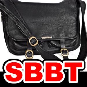 ●【SBBT】 Chrome hearts クロムハーツ メッセンジャーバッグ 黒 ブラック SV925 レザー ショルダーバッグ ラージ 本物