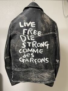 COMME des GARCONS Lewis Leathers 青山限定LIGHTNING 391T 38 コムデギャルソン ルイスレザー
