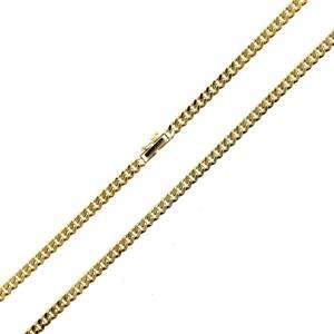 喜平 2面 シングル ネックレス チェーン 造幣局検定刻印 K18/18金 首周り約49.5cm 重量約29.9g ES 磨き仕上げ品 Aランク