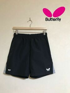 Butterfly バタフライ 卓球 TRハーフパンツ ユニフォーム ゲームパンツ ボトムス サイズS 半袖 黒 日本製