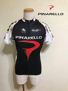 PINARELLO ピナレロ サイクルジャージ ウェア トップス 自転車 ロードバイク サイズL 半袖 黒 白