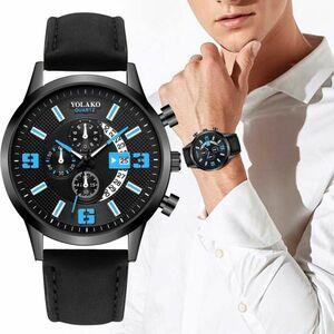 【新品1円~】※限定1品【最新メンズクォーツ腕時計】2-KM50897 海外ブランド高級ウォッチ 【最安】ビジネス ファッション 人気 精密