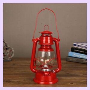 オイルランタン ランプ 赤 レッド キャンプ ライト アウトドア レジャー レトロ 海外品 レジャー BBQ ソロキャンプ