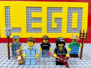 ☆住民☆ レゴ ミニフィギュアシリーズ ミニフィグ ねぼすけ君 農夫 清掃員 ゲーマー ロックスター ( LEGO 人形