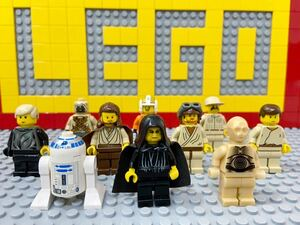 ☆スターウォーズ☆ レゴ ミニフィグ 大量10体 パルパティーン C3PO R2D2 ルーク クワイガンジン など ( LEGO 人形