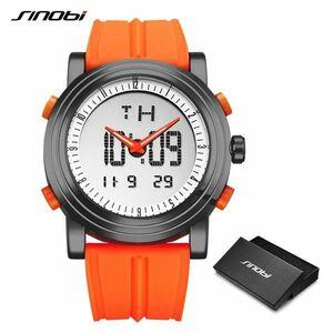 新品!!Sinobi スポーツ腕時計メンズクォーツ腕時計デジタル腕時計トップ高級ブランドハイブリッド腕時計クロノグラフ時計レロジオmasculino