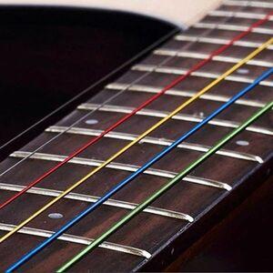 注目6 ピース/セットアコースティックギター弦虹カラフルなギター弦アコースティックフォークギター用 E-A クラシックギター