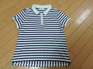 KUMIKYOKUの希少L~3Lサイズストライプポロシャツ★美品