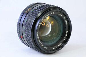ミノルタ MINOLTA MC ROKKOR-PG 50mm F1.4★AE 550