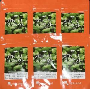 【送料無料】ブロッコリースプラウト 約6ヶ月分 (1ヶ月分60粒入×6袋) 6ヵ月分 半年分 スルフォラファン サプリメント オーガランド