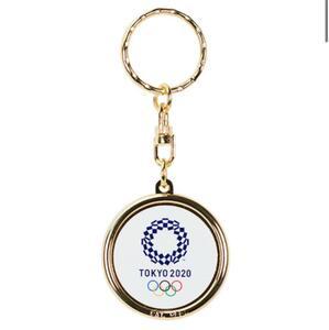 オリンピック エンブレム 記念 刻印 キーホルダー 東京 五輪 Tokyo 2020 公式 オフィシャル パラリンピック ミライトワ ソメイティ 記念品