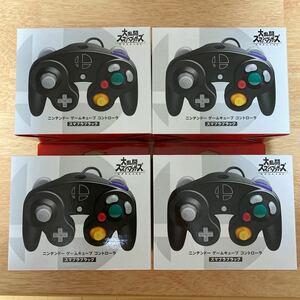 ニンテンドー ゲームキューブ コントローラ スマブラブラック 4セット
