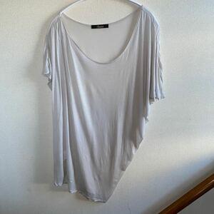 カットソー オフホワイト アシンメトリー Tシャツ RADIATE 日本製 トップス