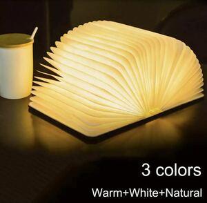 全2種類 Sサイズ 10×8×2cm ポータブル3色3Dブックライト LED 充電式 折り畳み テーブルランプ USB インテリア 置物 装飾 照明 486