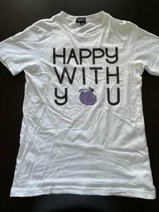 【限定】PEARLY GATES Tシャツ サイズ 5 パーリーゲイツ ホワイト 白 スマイル ニコちゃん L HAPPY WITH YOU