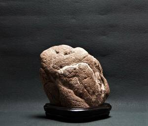 鑑賞石 4.0㎏ 山型石 姿石 【即決送料込み】 景石 原石 水石 鉱物 自然石 置物原石 盆石 飾り石 添景
