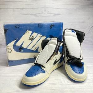 正規品 28.5cm fragment design x Travis Scott x Nike Jordan 1 High OG SP DH3227-105 US10.5 国内7月29日発売 f001
