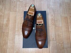 英国製!グレンソン 茶靴 ストレートチップ 7.5 26cm