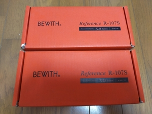 【BEWITH】ビーウィズ R-107S 722S Edition 1ch モノラルパワーアンプ 2個セット 未使用品