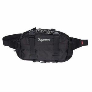 美品 19FW 19AWシュプリーム supreme Waist Bag ボックス ロゴ ウエスト ボディバッグ 黒 ブラック ボディーバッグ ウエストポーチ BLACK