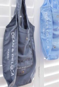 ★期間限定大幅お値下げ ハワイ限定 日本未発売 DEAN&DELUCA折り畳み式エコバッグ 2点セット♪おまけ付き☆