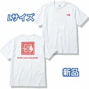 THE NORTH FACE: バックバンダナスクエアーロゴ Tシャツ Lサイズ