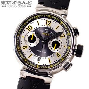101499352 ルイ・ヴィトン LOUIS VUITTON タンブール フライバック クロノヴォレ 腕時計 Q1028 メンズ SS ラバー 自動巻 300本限定