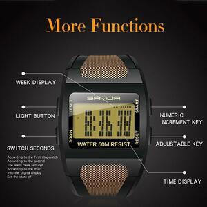 【最安】メンズ腕時計 ファッションデジタル腕時計 防水 219