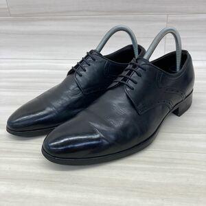 L'558 madras マドラス ビジネスシューズ プレーントゥ 靴 24cm ブラック レザー 本革 vibram ビブラムソール 日本製