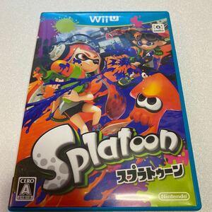 WiiUスプラトゥーン ソフト Splatoon スプラトゥーン WiiU説明書なし