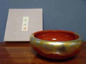◆平安堂◆金雲 朱丸鉢◆菓子鉢◆木製漆器◆未使用品◆