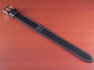 CBH-A032a アキュレイトフォルム ホーウィン クロムエクセル革ベルト レギュラー ブラック 17mm、