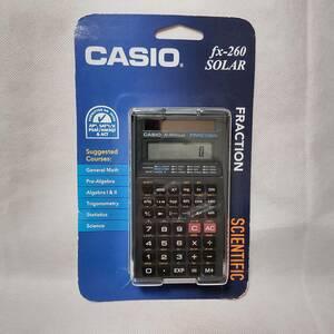 【送料無料・新品・未使用・即決・即納】Casio 260 fx 関数電卓 ハードスライドケース付き