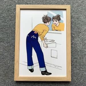 ■江口寿史『COMIC アレ!1994』B5サイズ 額入り 貴重イラスト 印刷物 ポスター風デザイン 額装品 アートフレーム インテリア 美少女