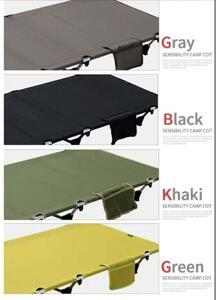 新品 軽量 折り畳み式 アウトドアコット ベッド ローコット 組み立て式 緑