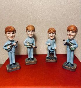 THE BEATLES ビートルズ 4体 陶器 人形 フィギュア ヴィンテージ
