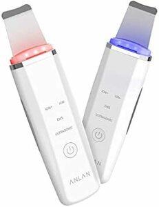 ホワイト ANLAN ウォーターピーリング 光 美顔器 ems ピーリング 顔 毛穴ケア イオン美顔器 超音波美顔器 超音波ピー