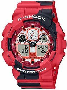 レッド [カシオ] 腕時計 ジーショック NISHIKIGOI 錦鯉 GA-100JK-4AJR メンズ レッド