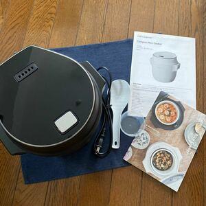 (あり) レコルト コンパクト ライスクッカー │ レシピ付き recolte 炊飯器 2.5合 セラミック 低温調理レコルト
